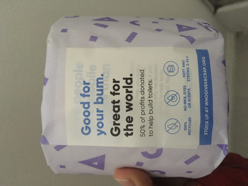 Who Gives a Crap includes their mission even on the toilet paper wrap